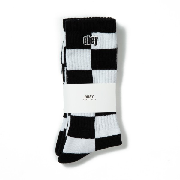 Obey Checkers Socks (Black Multi)