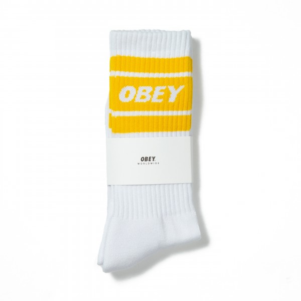 Obey Cooper II Socks (White/Lemon)