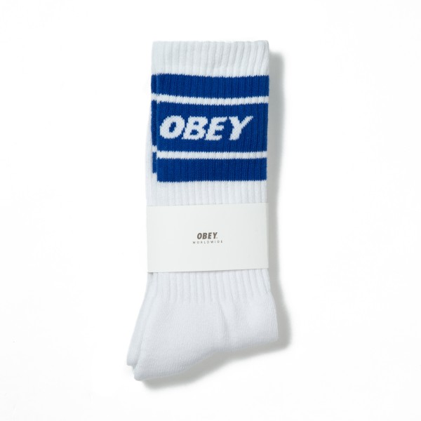 Obey Cooper II Socks (White/Royal)