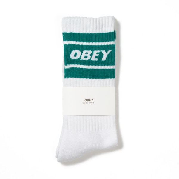 Obey Cooper II Socks (White/Teal)