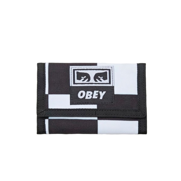 Obey Drop Out Tri Fold Wallet (Checker)