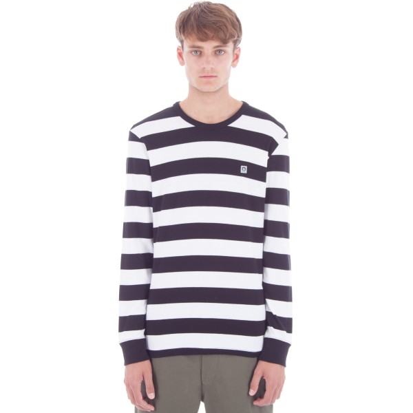 Obey Eighty Nine Fat Stripe Long Sleeve T-Shirt (Black/Multi)