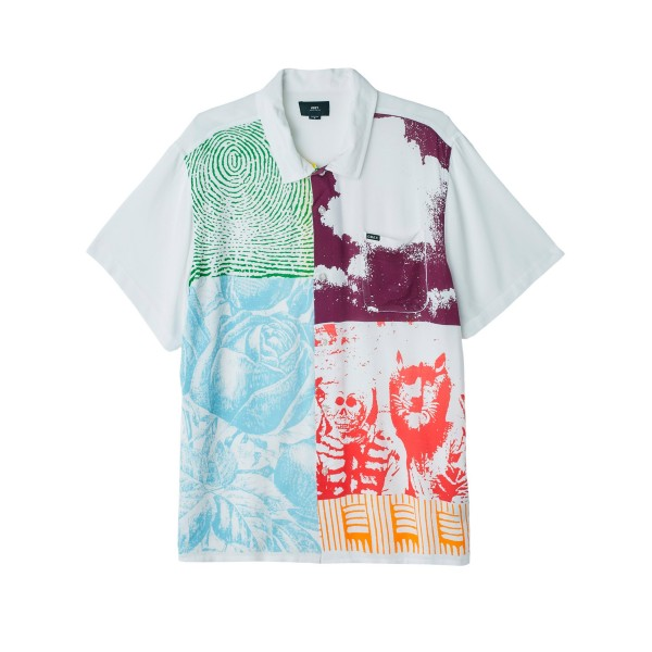 Obey Hitter Woven Shirt (White Multi)