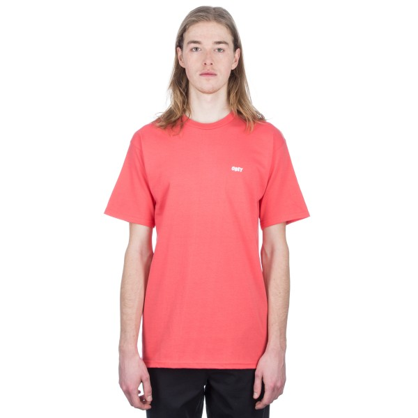 Obey Jumble LO-FI T-Shirt (Coral)