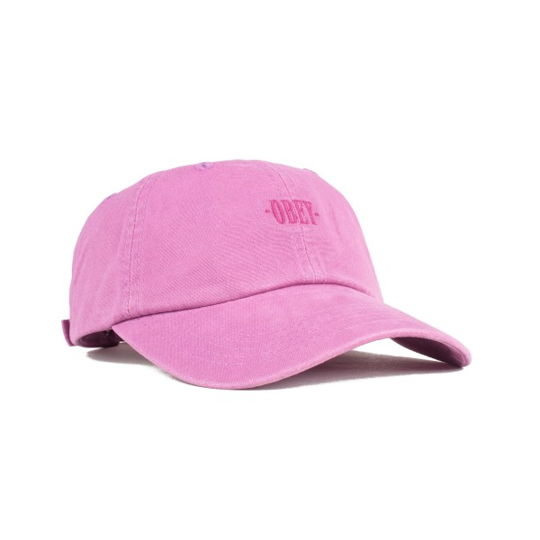 Obey Lemont 6 Panel Cap (Raspberry)