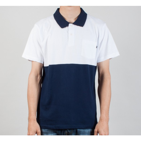 Obey Mercer Polo (White / Dark Navy)