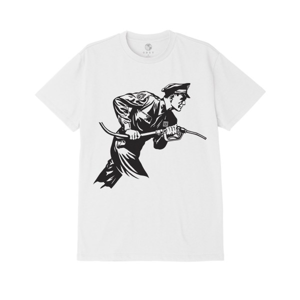 Obey Never Stop Charging T-Shirt (White)