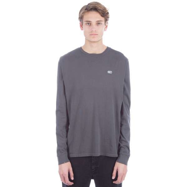 Obey New Times Micro Long Sleeve T-Shirt 'Pigment Pack' QS (Dusty Black)