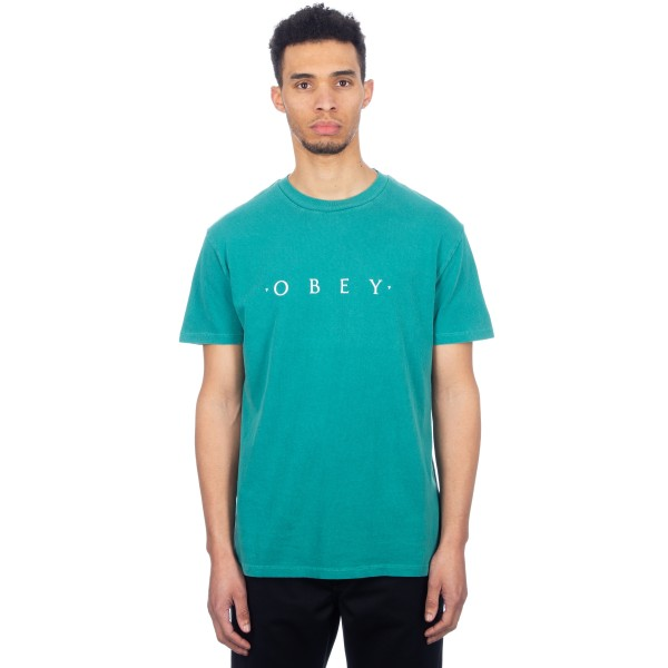 Obey Novel Obey T-Shirt (Dusty Teal Blue)