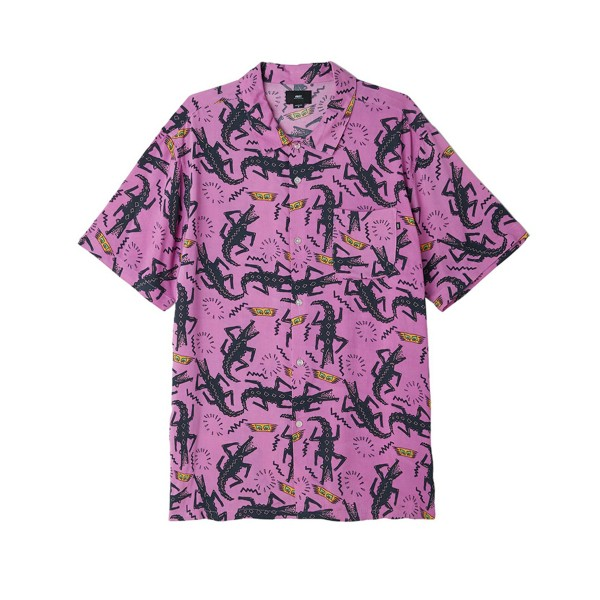 Obey Salazar Woven Shirt (Purple Multi)