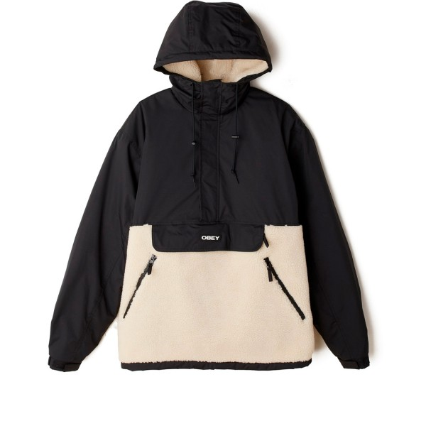 Obey Splits Sherpa Anorak (Black Multi)