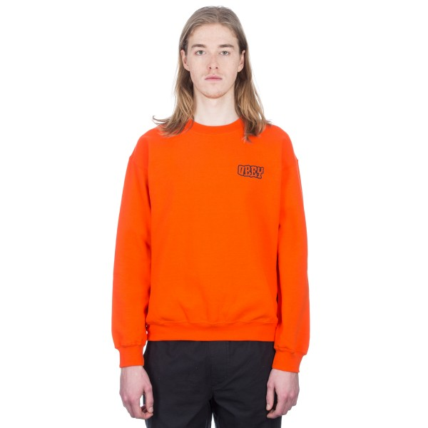 Obey Unwritten Future Crew Neck Sweatshirt (Orange)