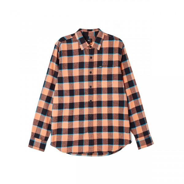 Obey Ventura Woven Shirt (Coral Multi)