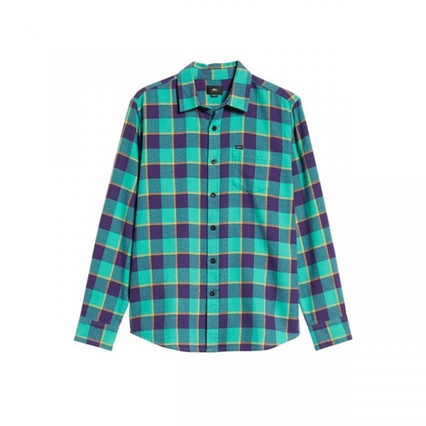 Obey Ventura Woven Shirt (Teal Multi)