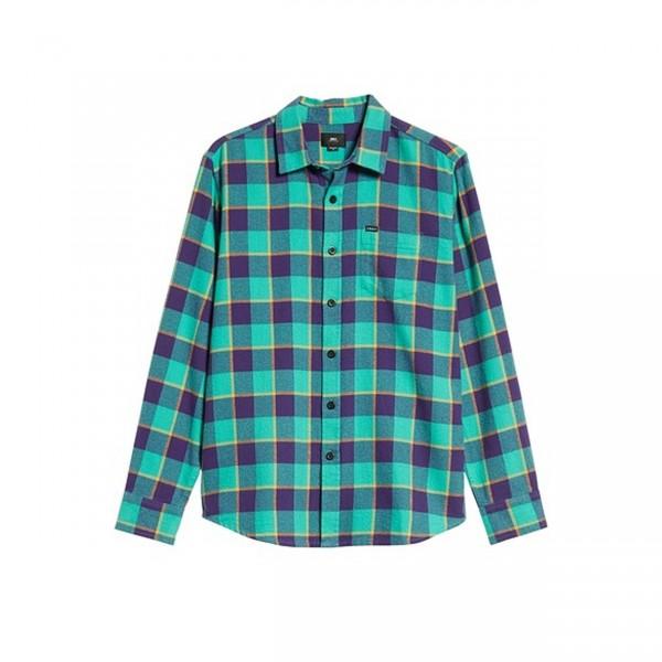 Obey Ventura Woven Shirt (Teal Multi)