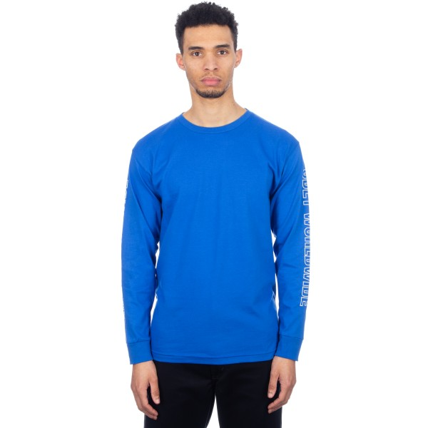 Obey Worldwide Outline Long Sleeve T-Shirt (Royal Blue)