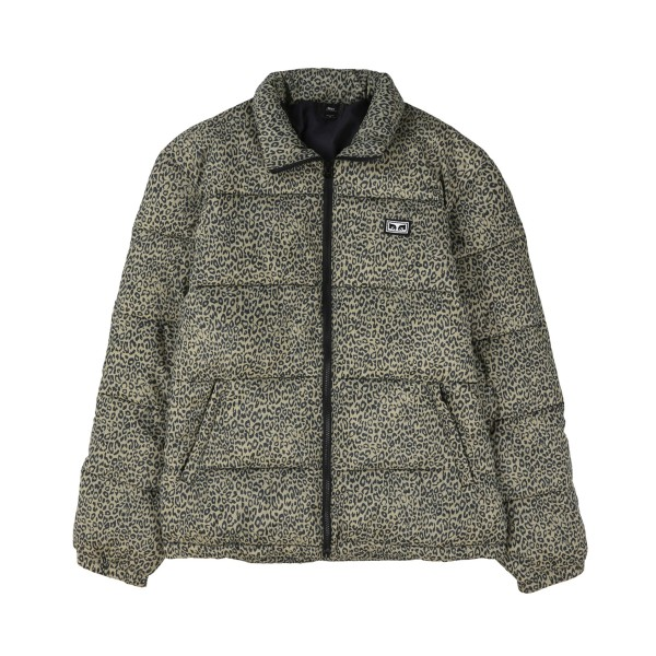 Obey Bouncer Puffer Jacket (Khaki Leopard)