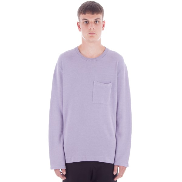 Our Legacy Box Long Sleeve Crew Neck Sweatshirt (Orchid Cotton/Linen Sweat)
