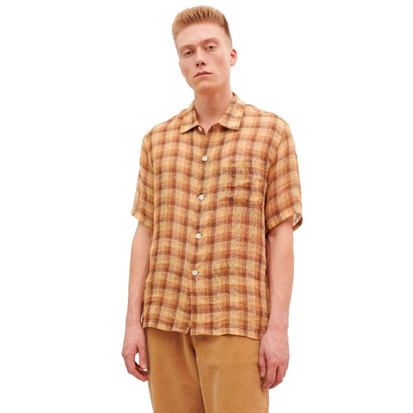 Our Legacy Box Shirt (Raw Net Brown Yellow Check)