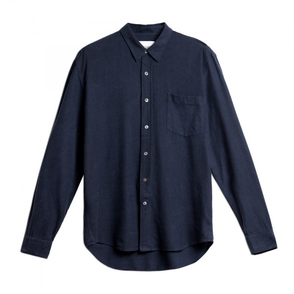 Our Legacy Classic Shirt (Navy Silk)