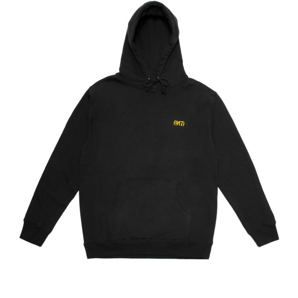 Call Me 917 Area Code Pullover Hooded Sweatshirt (Black)