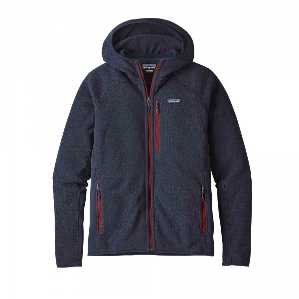 Patagonia Performance Better Sweater Fleece Full-Zip Hooded Sweatshirt (Navy Blue)
