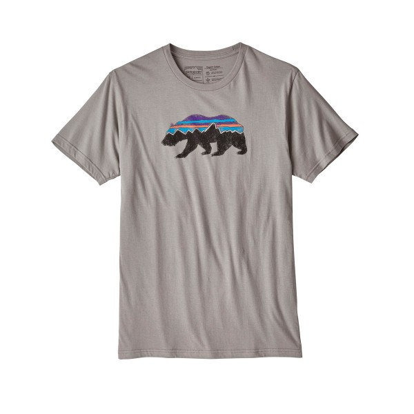 Patagonia Fitz Roy Bear Organic T-Shirt (Feather Grey)
