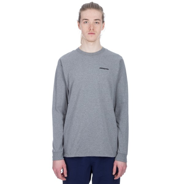 Patagonia Fitz Roy Responsibili-Tee Long Sleeve T-Shirt (Gravel Heather)