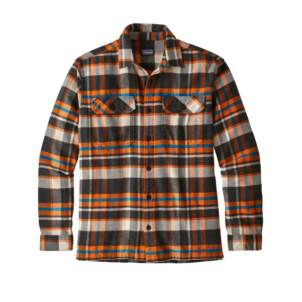 Patagonia Fjord Flannel Long Sleeve Shirt (Basin: Marigold)