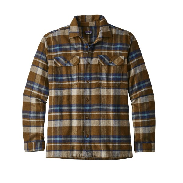 Patagonia Fjord Flannel Long Sleeve Shirt (Basin: Sediment)