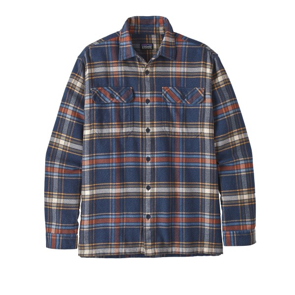 Patagonia Fjord Flannel Long Sleeve Shirt (Defender: New Navy)
