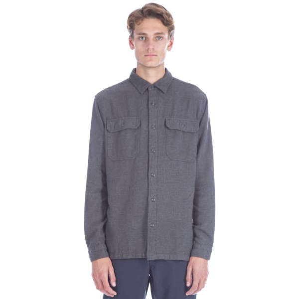 Patagonia Fjord Flannel Long Sleeve Shirt (Forge Grey)