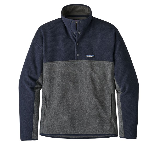 Patagonia Lightweight Better Sweater Marsupial Fleece Pullover (Forge Grey w/Navy)