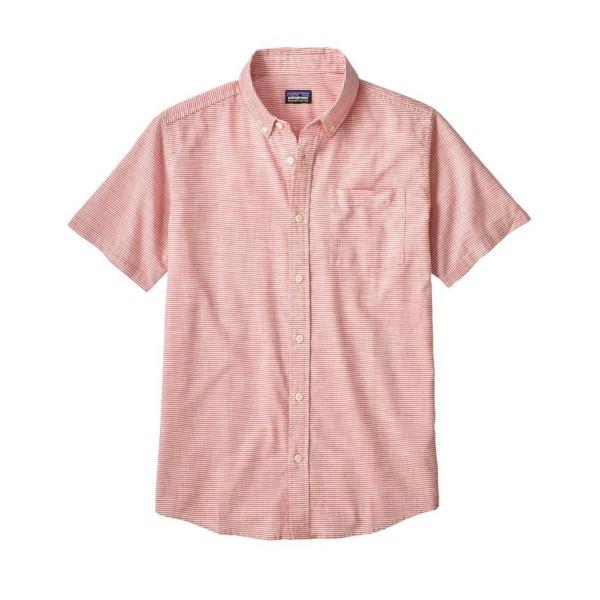Patagonia Lightweight Bluffside Shirt (Jib Stripe: Static Red)