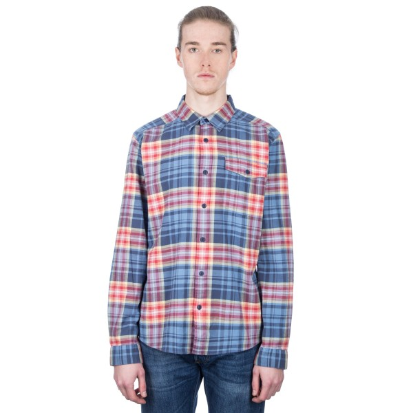 Patagonia Lightweight Fjord Flannel Long Sleeve Shirt (Rootsy: Railroad Blue)