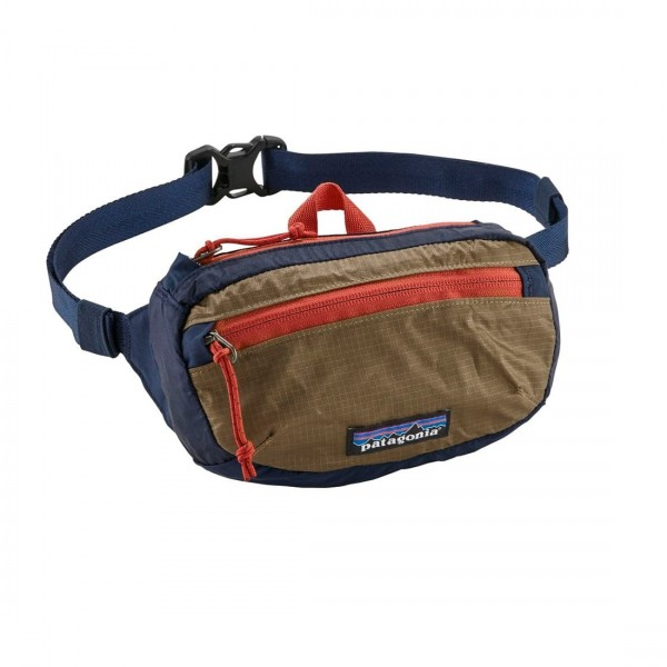 Patagonia Lightweight Travel Mini Hip Pack 1L (Classic Navy w/Mojave Khaki)