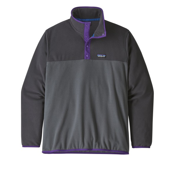 Patagonia Micro D Snap-T Pullover Fleece (Forge Grey)