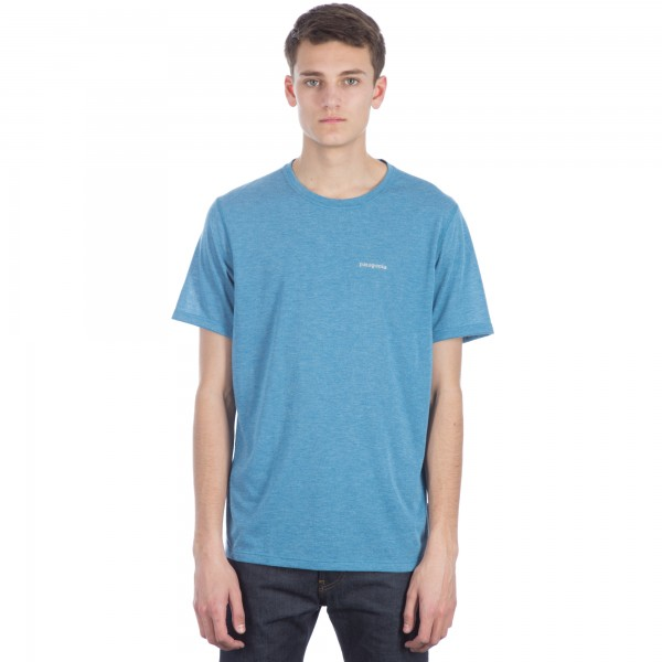 Patagonia Nine Trails T-Shirt (Underwater Blue)