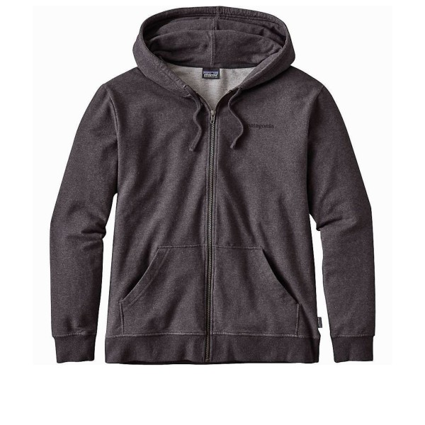 Patagonia P-6 Label Midweight Full-Zip Hooded Sweatshirt (Black)