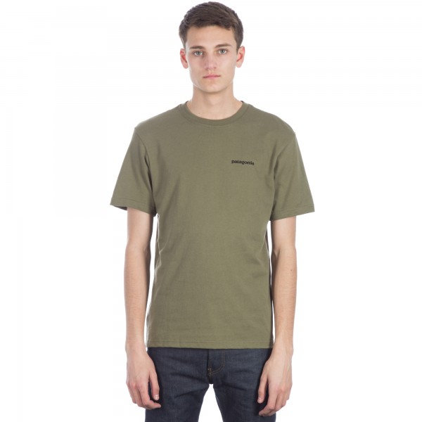 Patagonia P-6 Logo Cotton T-Shirt (Fatigue Green)