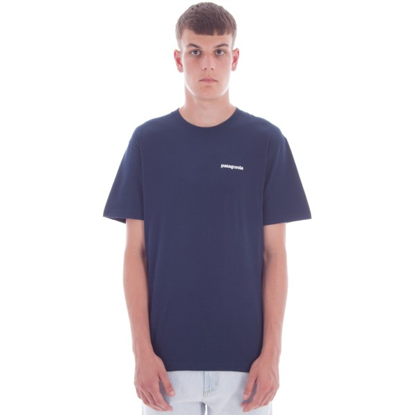 Patagonia P-6 Logo Cotton T-Shirt (Navy Blue)