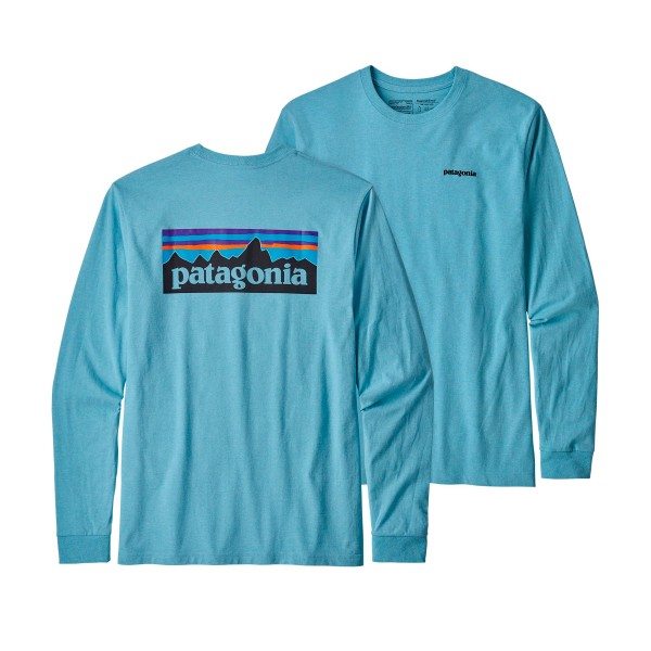 Patagonia P-6 Logo Responsibili-Tee Long Sleeve T-Shirt (Break Up Blue)