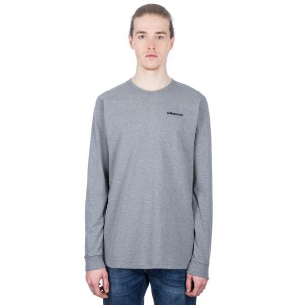 Patagonia P-6 Logo Responsibili-Tee Long Sleeve T-Shirt (Gravel Heather)