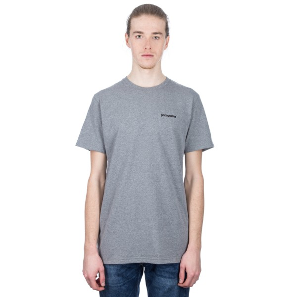 Patagonia P-6 Logo Responsibili-Tee T-Shirt (Gravel Heather)