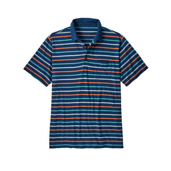 Patagonia Squeaky Clean Polo Shirt (Terrain Multi: Stone Blue)