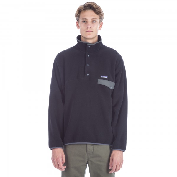 Patagonia Synchilla Snap-T Pullover (Black w/Forge Grey)