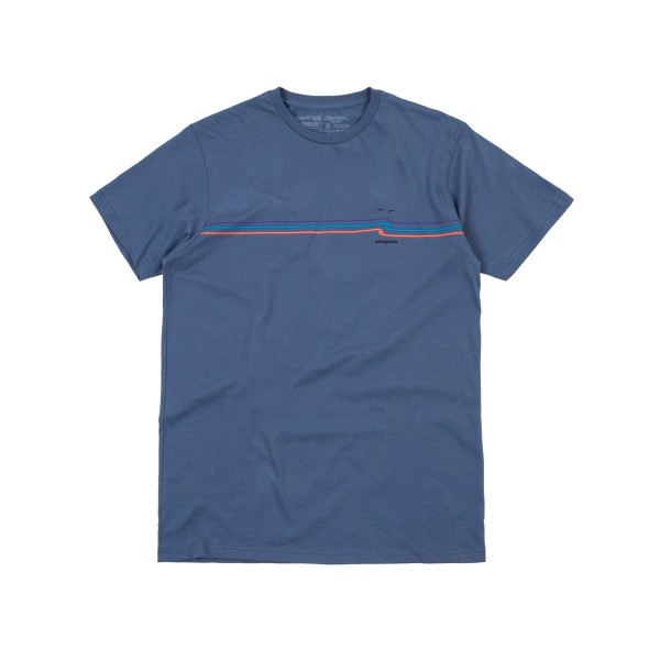 Patagonia Tide Ride Organic Cotton T-Shirt (Dolomite Blue)