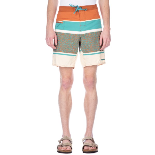 Patagonia Wavefarer Boardshorts (Batik Hex Stripe: Canyon Brown)