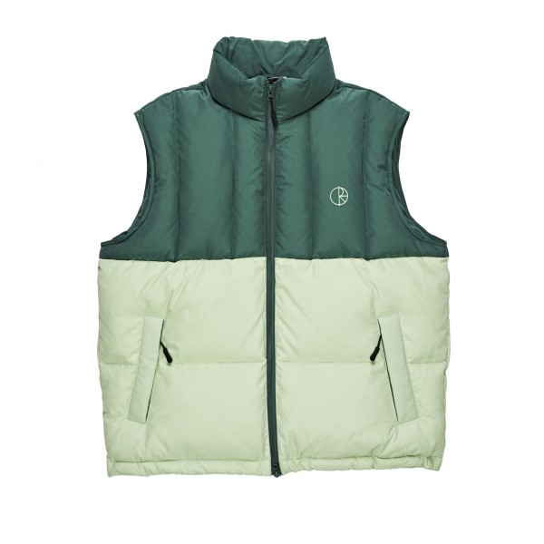 Polar Skate Co. Combo Puffer Vest (Green/Sea Foam Green)