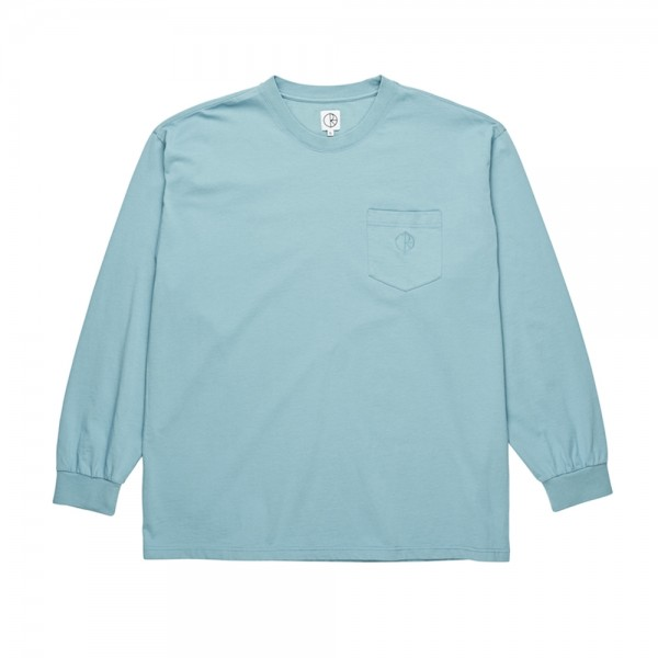 Polar Garment Dyed Pocket Long Sleeve T-Shirt (Washed Teal)